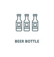 beer bottle line icon beer bottle outline vector image vector image