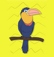 bird sitting on a branch vector image vector image