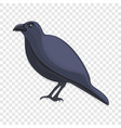 black crow icon cartoon style vector image