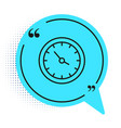 black line train station clock icon isolated on vector image vector image