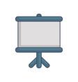 board presentation icon vector image vector image