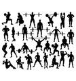 Bodybuilder Silhouette vector image vector image