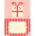 box with a gift vector image vector image
