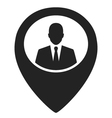 businessman black web pointer icon vector image