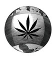 cannabis day logo hand drawing vintage style vector image vector image