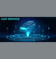 car auto service in futuristic style hud vector image vector image