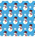 Christmas background snowman vector image vector image