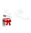 Christmas opened gift vector image vector image