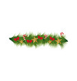 christmas wreath decoration icon vector image vector image