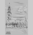 church of st mary in berlin grey vector image vector image