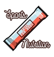 Color vintage sports nutrition emblem
