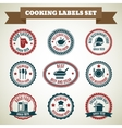 Cooking chef labels vector image