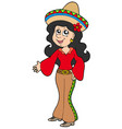cute mexican girl vector image vector image