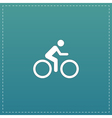 cycling road icon vector image vector image