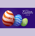 easter egg sale horizontal banner easter card vector image vector image
