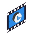 Filmstrip 3D isometric icon vector image vector image