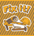 fix it composition with tools vector image