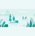 flat background of spring landscape with vector image vector image