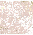 floral chic nude pink gold blush rustic background vector image vector image