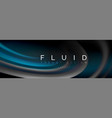 fluid color wave line background trendy abstract vector image