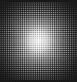 geometrical abstract halftone dot pattern vector image vector image