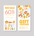 gift voucher template certificate or coupon vector image