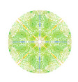 green mandala with turkish ornament lotus vector image