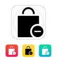 Handbag remove goods icon vector image