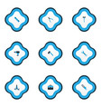 handtools icons colored set with toolbox hatchet vector image