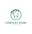 horse care logo vector image vector image