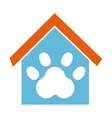 House mascot with footprint icon vector image