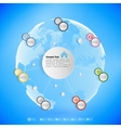 Infographic with colored circles for business vector image vector image