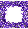 iris flower border vector image vector image