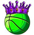 king basket ball in a cartoon chair vector image vector image
