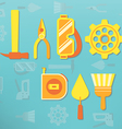 Labor day tools vector image