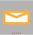 mail icon flat style vector image vector image