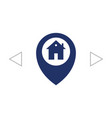 map pointer house sign icon home location marker vector image