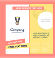 medal company brochure template busienss template vector image