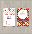 modern pattern business card design vector image vector image