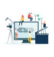 movie films and video production crew people flat vector image