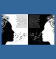 music festival flyer leaflet monochrome vector image vector image
