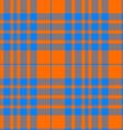 orange and blue tartan seamless vector image vector image