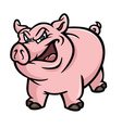 pig mean vector image vector image