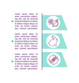 preclinical studies concept line icons with text vector image