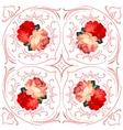 Roses wedding wreath card vector image