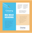 screw driver business company poster template vector image vector image