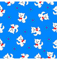 seamless texture with a kitten vector image vector image