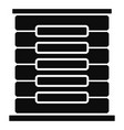 server rack icon simple style vector image