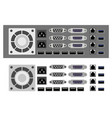 set computer parts vector image vector image