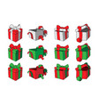 set gift boxes cartoon doodles vector image vector image